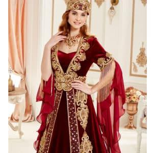 dark-red-royal-caftan-set