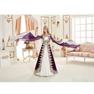 Dark Purple Royal Kaftan Set