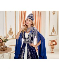 Fancy Blue Caftan Set 1 247x296 - Fancy Blue Caftan Set