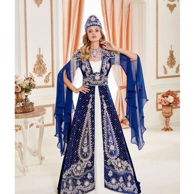 Fancy Blue Caftan Set
