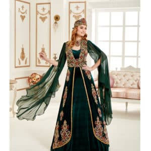 Green Kaftan Set
