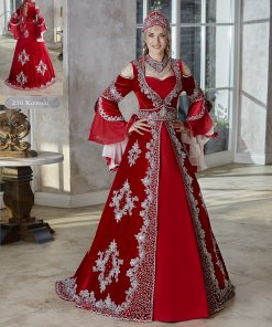Engagement red velvet flounce long sleeve cheap formal Dress