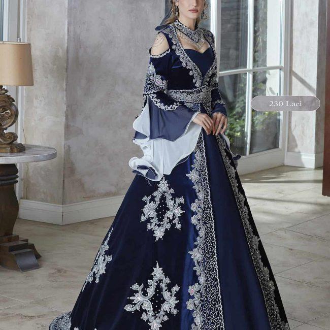 Elegant velvet Long bell Sleeves royal blue Engagement Evening Dresses 2020 Saudi Arabic Kaftan Dubai Formal Dress Bridal Party engagement Gowns