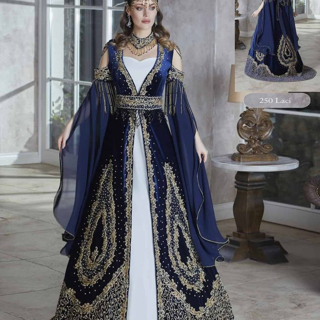 2020 Princess crystal Embellished Long flounce Sleeves Navy Blue Prom Dresses Ball Gowns Wedding Engagement Dresses , Appliqued Formal Gown