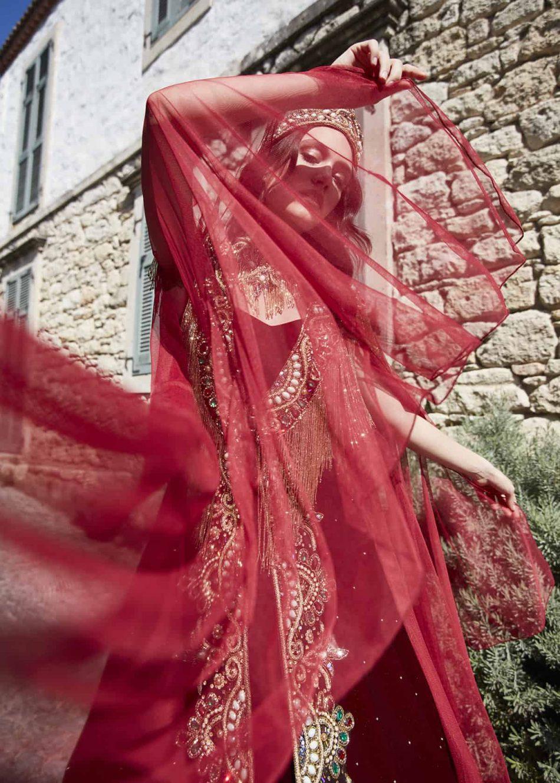 best red engagement dress for bride online 2 950x1330 - Chic Caftan Set