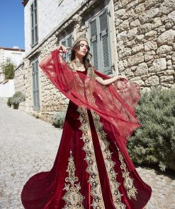 best red engagement dress for bride online 4 247x296 - Chic Caftan Set