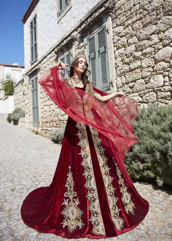 best red engagement dress for bride online 4 950x1330 - Chic Caftan Set