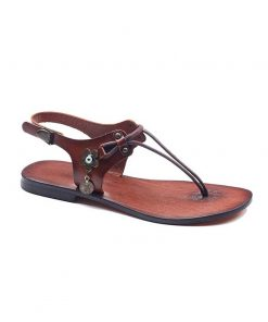 bodrum sandals evaterm sag 1965 247x296 - Leather Strapped Tan Sandals