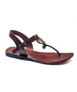 bodrum sandals evaterm sag 236 1914 247x296 - Toe Thong Brown Sandals