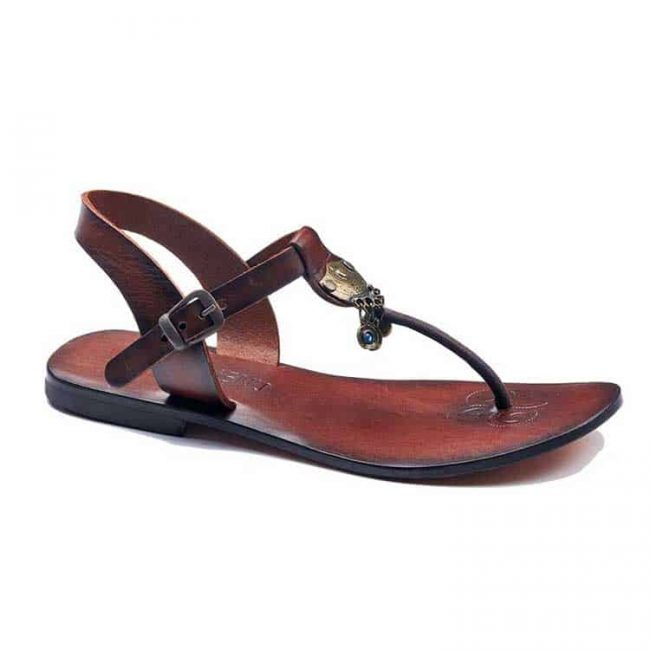 bodrum sandals evaterm sag 236 1914 650x650 - Toe Thong Brown Leather Sandals For Womens