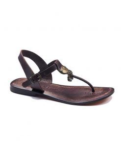 bodrum sandals evaterm sag 236 1917 247x296 - Toe Thong Dark Brown Sandals - Leather, 40
