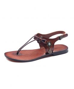 bodrum sandals evaterm sol 1965 247x296 - Leather Strapped Tan Sandals