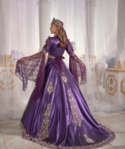 buy online famous purple caftan set turkish hijab store 2 247x296 - Famous Purple Kaftan Set