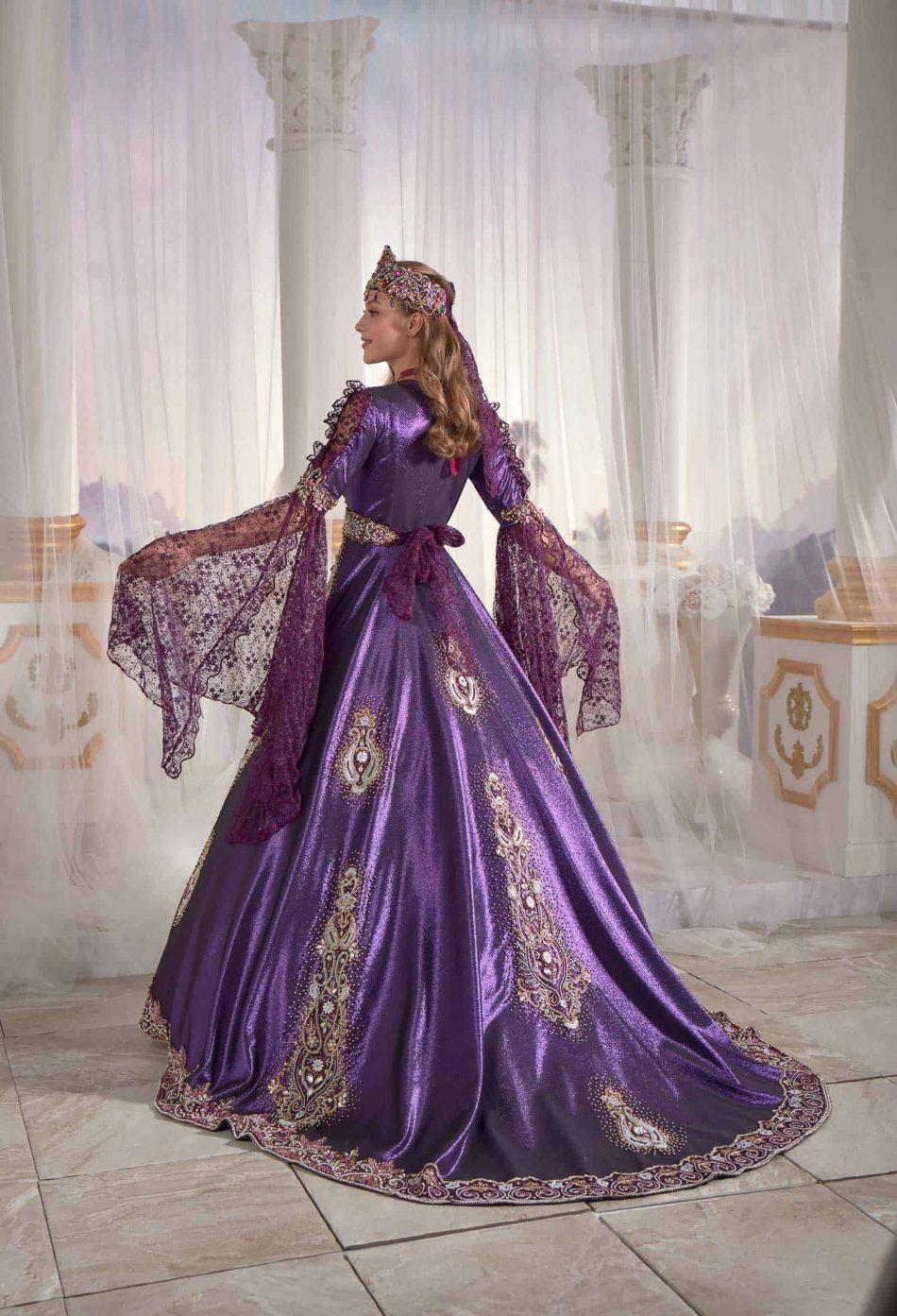 buy online famous purple caftan set turkish hijab store 2 950x1393 - Famous Purple Kaftan Set