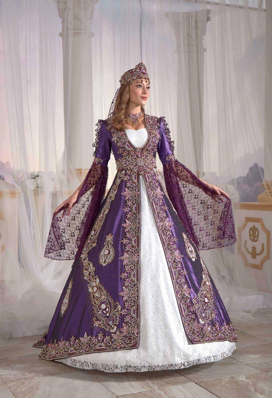 buy online famous purple caftan set turkish hijab store 3 950x1393 - Famous Purple Kaftan Set