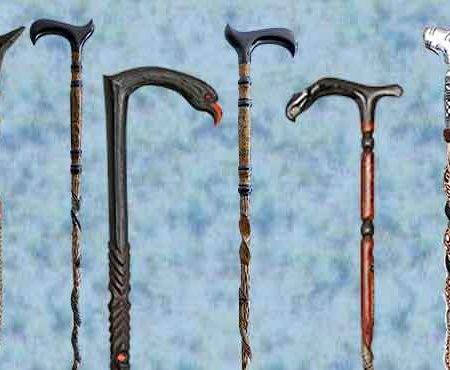 Hand Carving Art; Walking Canes