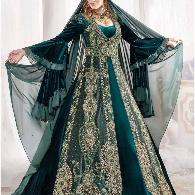 majestic caftan ottoman dress set 1 650x650 - Majestic Caftan Set