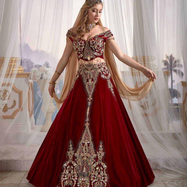 Red Turkish Kaftan Dress.