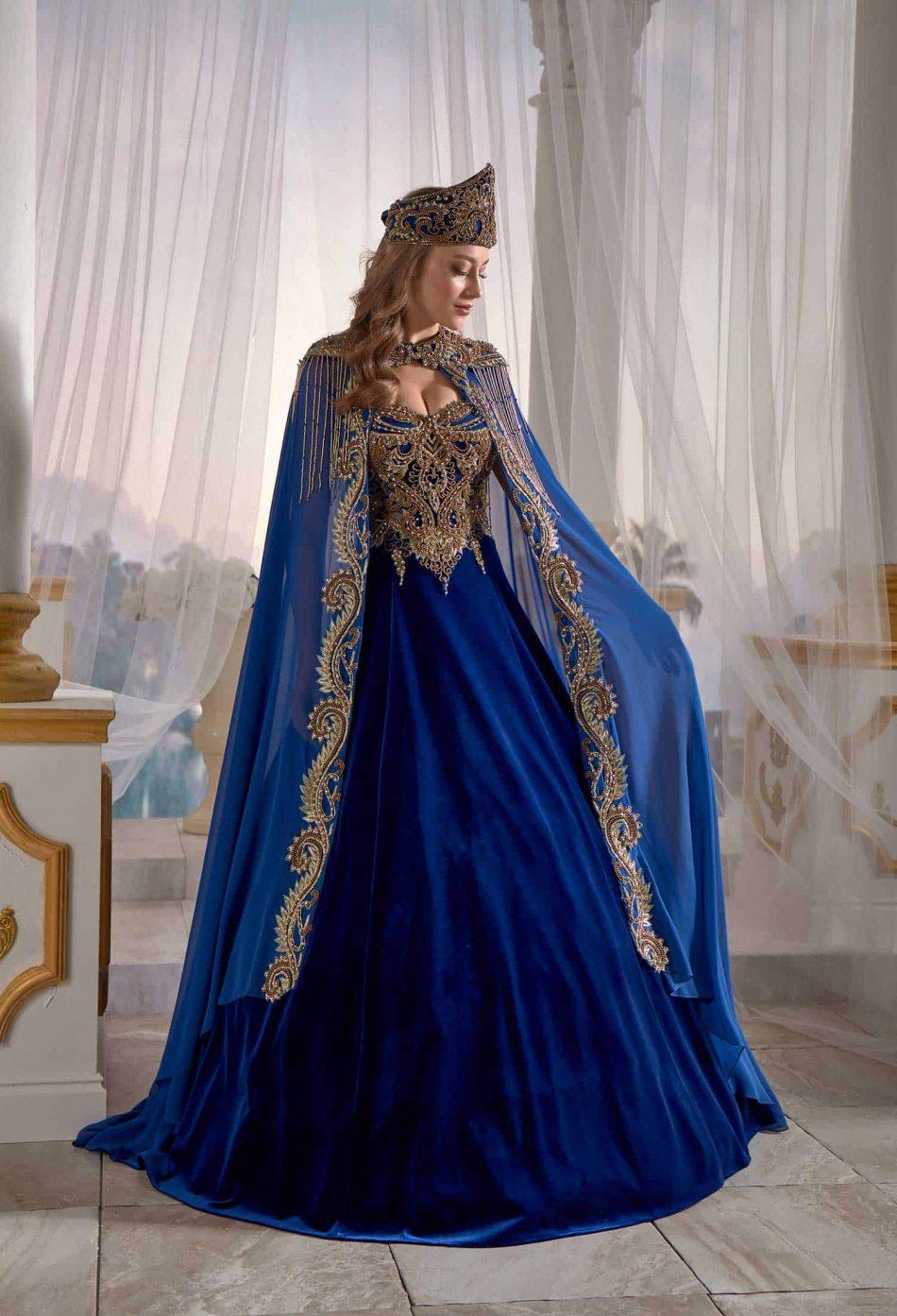 Turkish Caftan Dress Blue