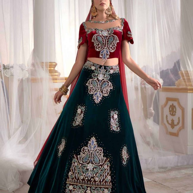 queen caftan kebaya dresses buy 4 650x650 - Queen Caftan Set Red