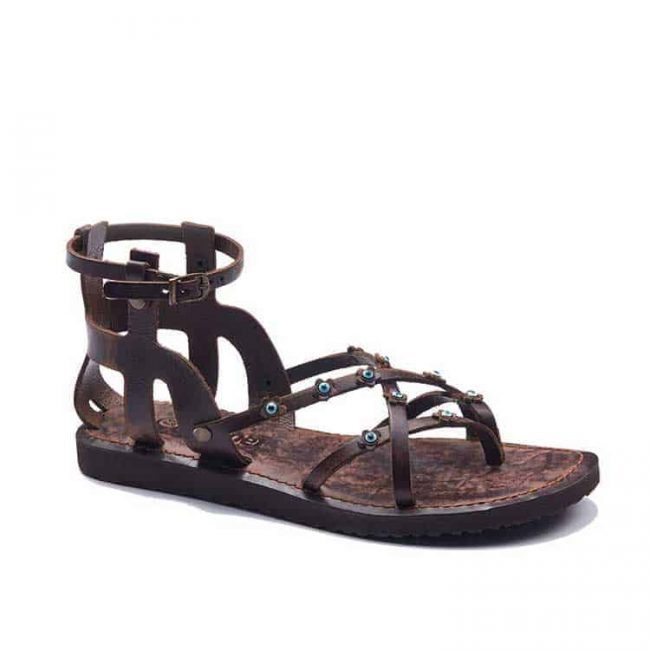 ankle handmade leather sandals 2 650x650 - Ankle Handmade Leather Sandals
