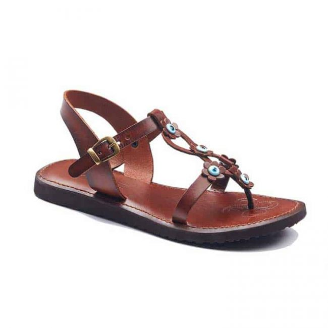 beaded handmade leather sandals 1 650x650 - Beaded Womens Leather Sandals