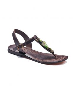 beads handmade leather sandals 2 247x296 - Beads Handmade Leather Sandals