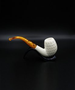 bent billiard meerschaum pipe 1 247x296 - Bent Billiard Meerschaum Pipe