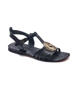 black handmade leather sandals 1 247x296 - Black Handmade Leather Sandals