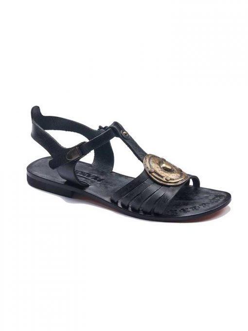 black handmade leather sandals 1 510x680 - Black Leather Sandals For Womens