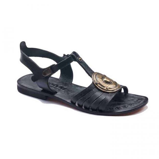 black handmade leather sandals 1 650x650 - Black Leather Sandals For Womens