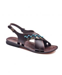brown handmade leather sandals 1 247x296 - Brown Handmade Leather Sandals