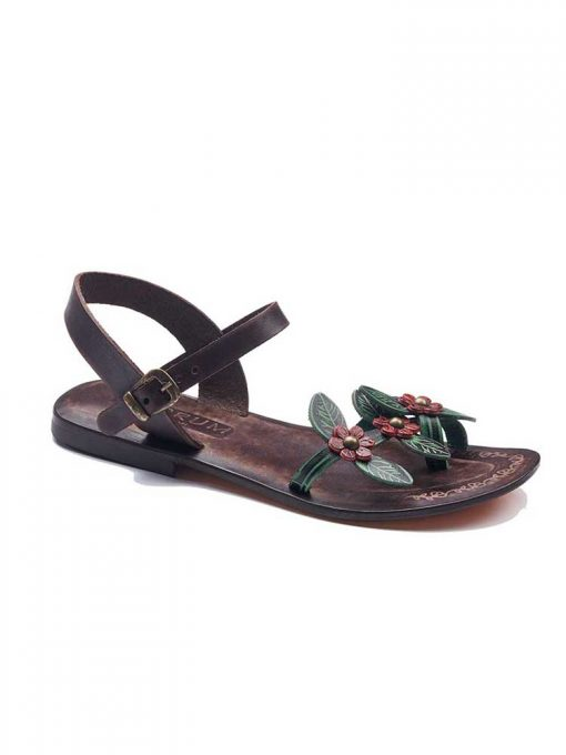 christmas handmade leather sandals 1 510x680 - Leather Strap Sandals For Women