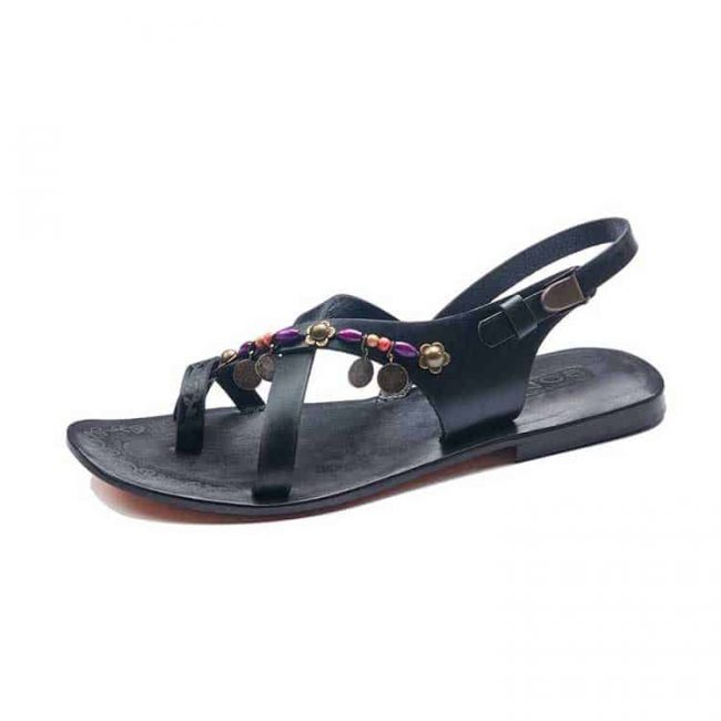 fashionable-leather-sandals