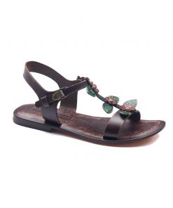 floral handmade leather sandals 1 247x296 - Floral Handmade Leather Sandals