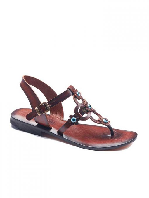 flowers handmade leather sandals 1 510x680 - Flowers Leather Sandals For Women