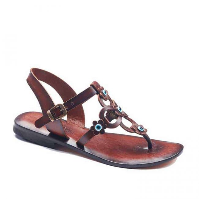 flowers handmade leather sandals 1 650x650 - Flowers Leather Sandals For Women