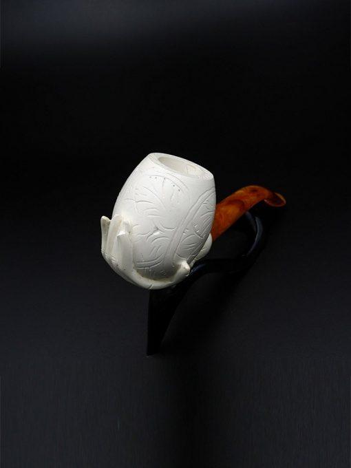 lady hand meerschaum pipe 2 510x680 - Lady Hand Meerschaum Pipe