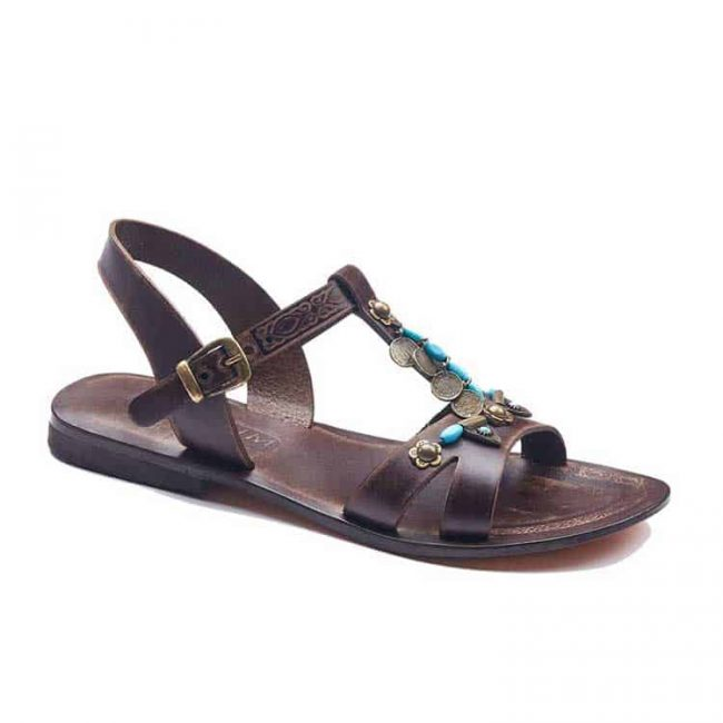 online leather sandals 1 650x650 - Brown Leather Sandals For Women