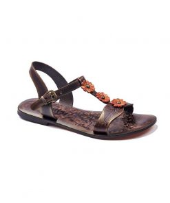 orange leather sandals 1 247x296 - Orange Leather Sandals
