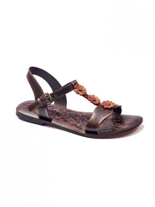 orange leather sandals 1 510x680 - Orange Leather Sandals