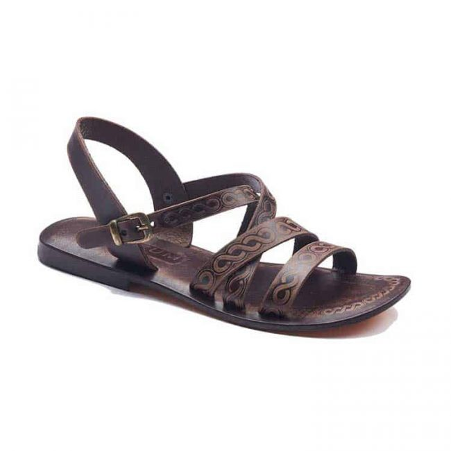 strapped leather sandals 1 650x650 - Strapped Leather Sandals For Women