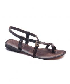 street style leather sandals 1 247x296 - Street Style Leather Sandals