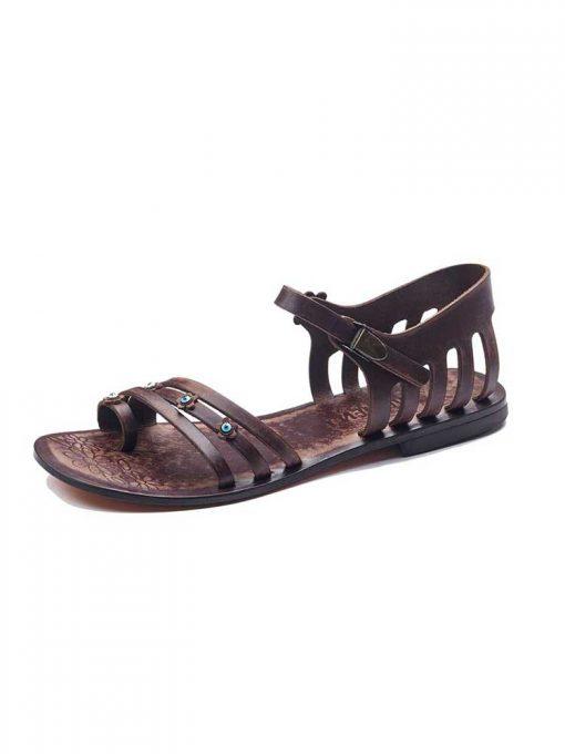toe thong handmade leather shoes 2 510x680 - Toe Thong Handmade Leather Shoes