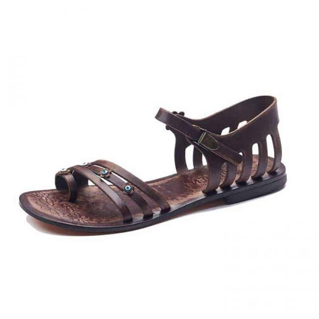 toe thong handmade leather shoes 2 650x650 - Toe Thong Leather Sandals For Women