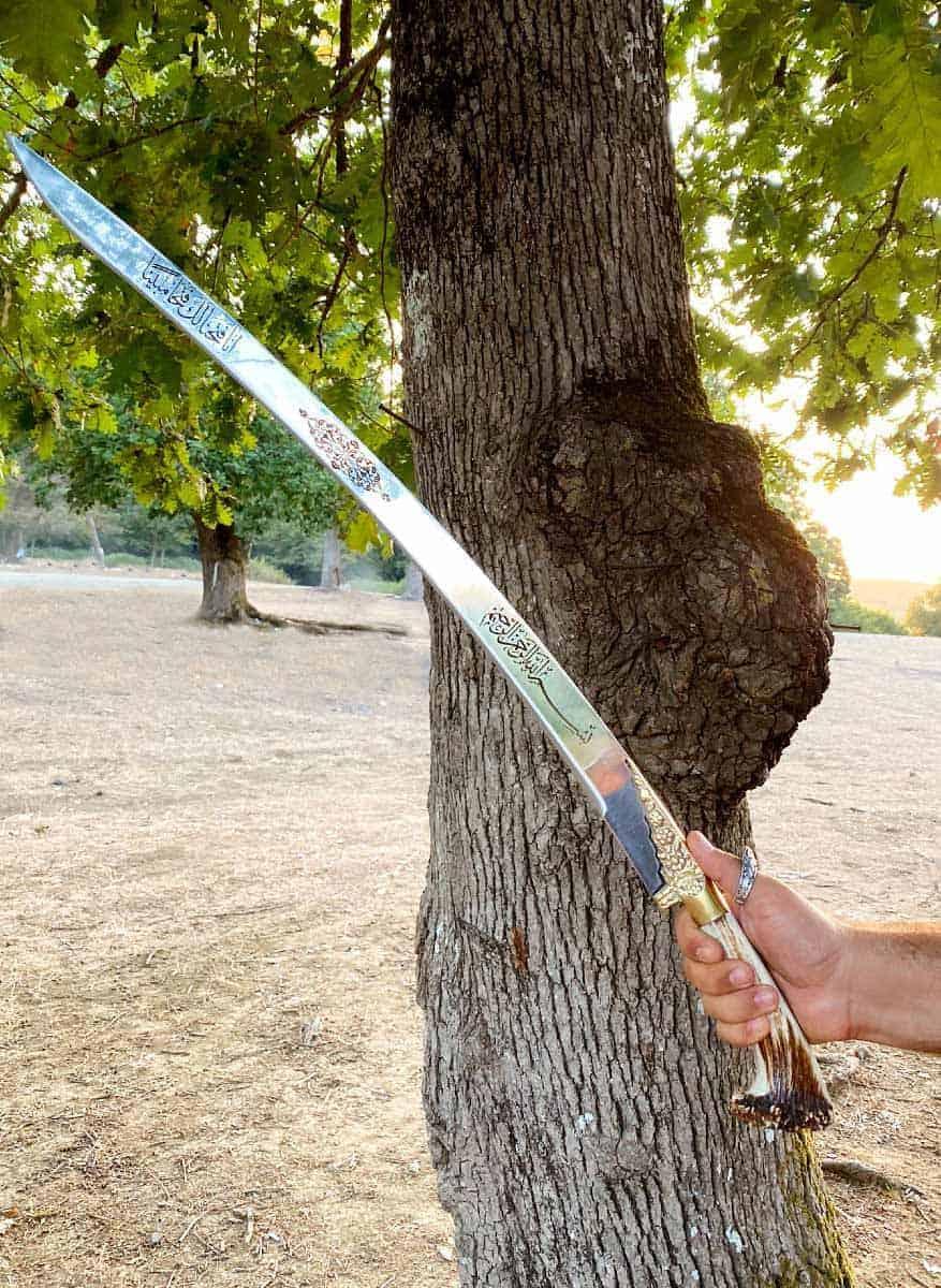 authentic yataghan carbon steel sword kilij replica for sale online sword cheap medieval swords