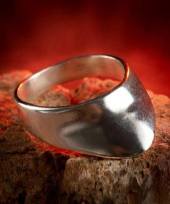 Archery Ring Silver Mens Ring-dirilis ring