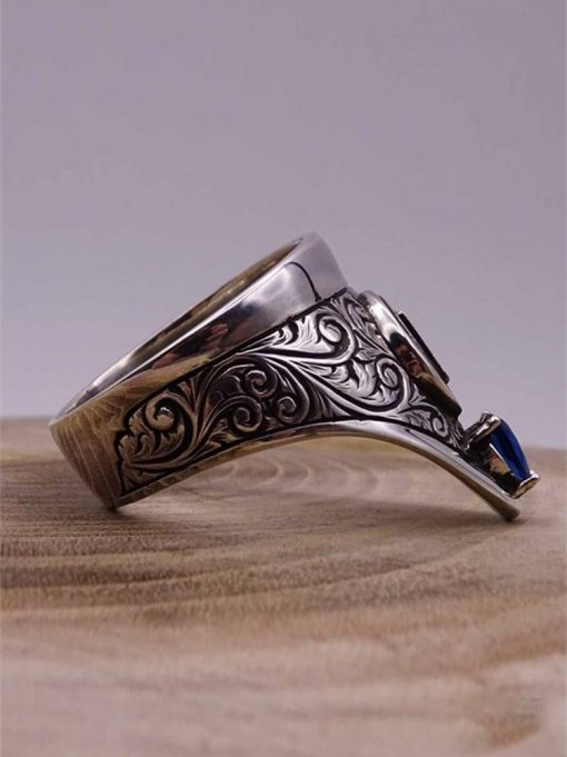 Cool Archery Silver Mens Ring 1 510x681 - Cool Archery Silver Mens Ring