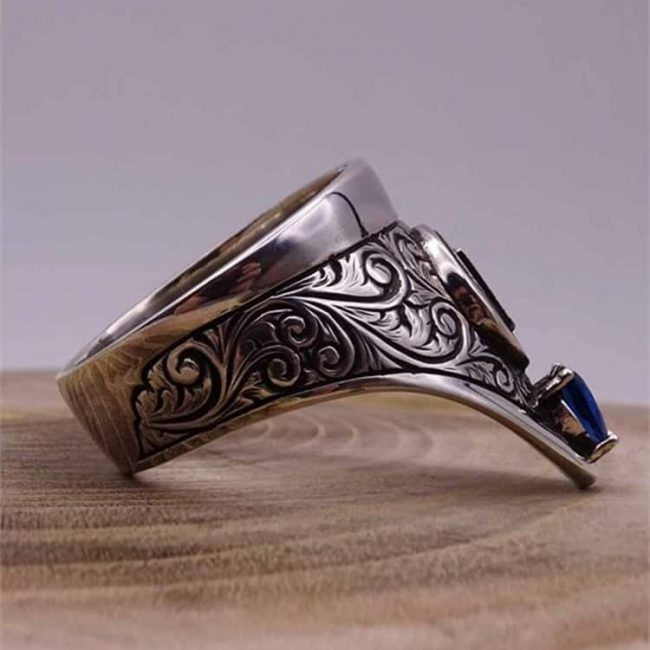 Cool Archery Silver Mens Ring 1 650x650 - Cool Archery Silver Mens Ring