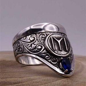 Cool Archery Silver Mens Ring (2)